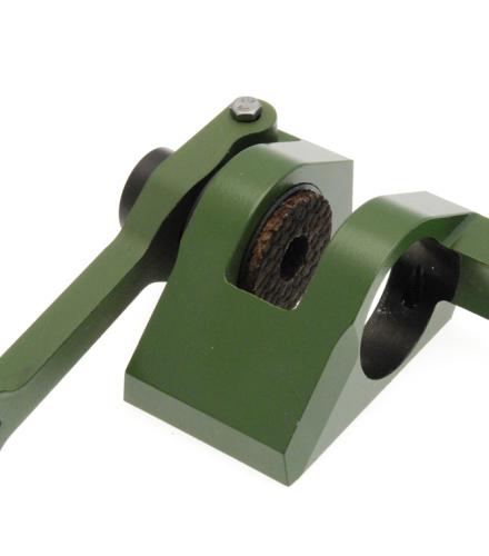 Frein de site, corps et fourchette en acier traité et peints vert armée, et piston en alliage d'aluminium AGS anodisé dur
